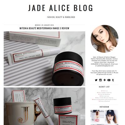 Jade Alice blog on Mitonia