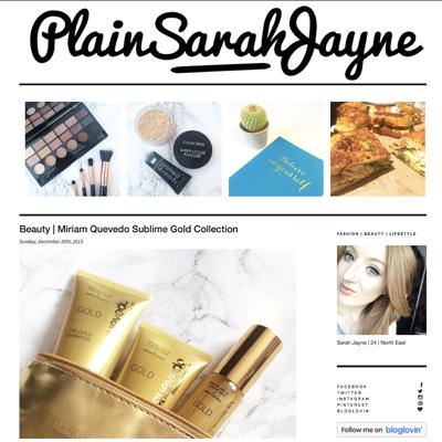 Plain Jane Sarah Blogger Revies of Miriam Quevedo